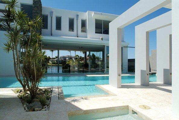 Paul Clout Architecture, Noosa Luxury waterfront house, North ...
