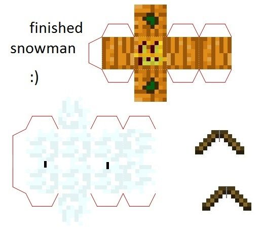 Papercraft Mini Snow Golem With Arms With Images Paper