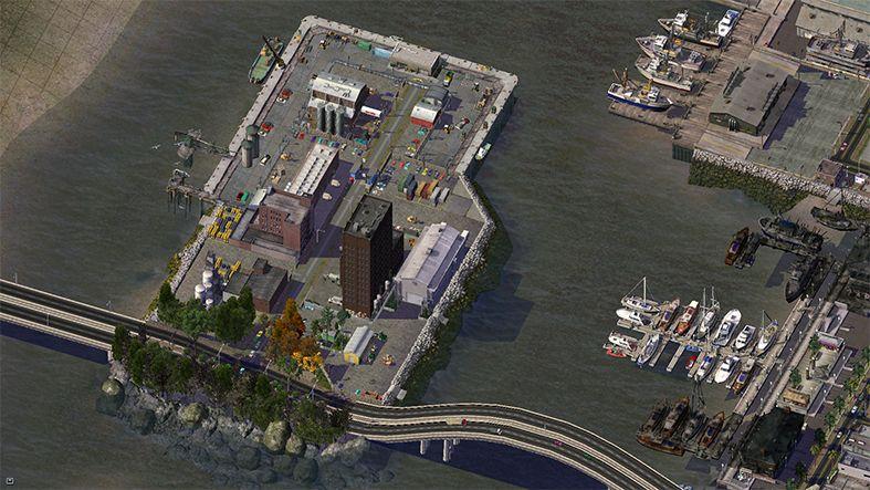 Factory Island in New Bristol- Sim City 4 Screenshot (lots