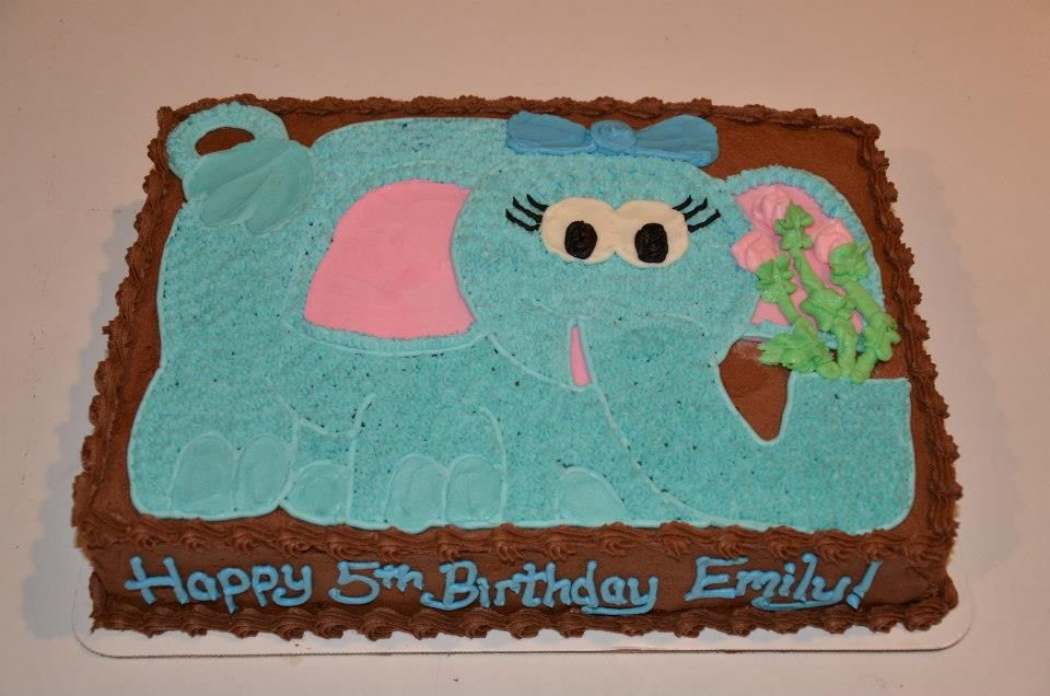 Elephant Birthday Sheet Cake