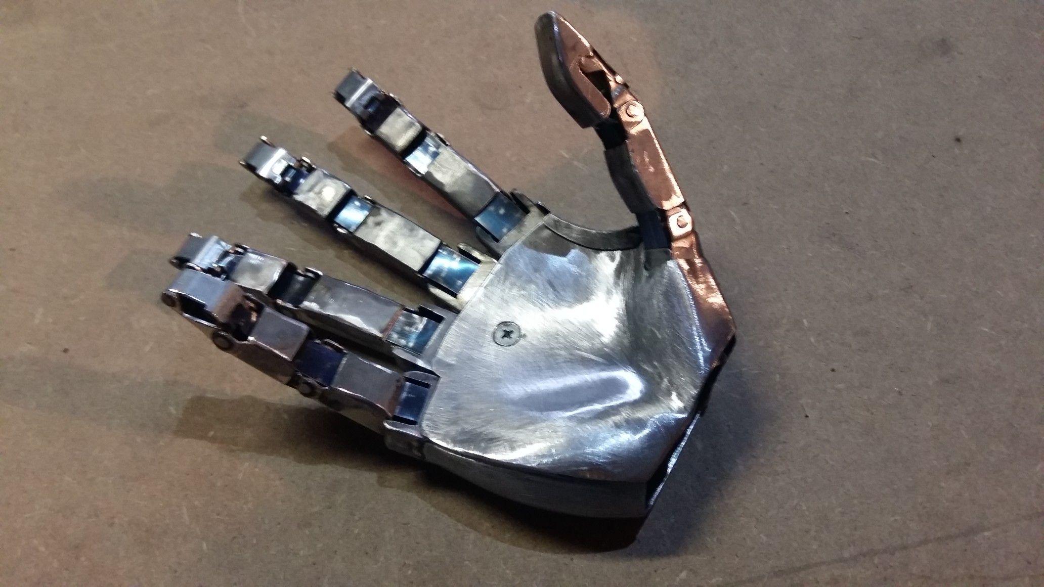 Homemade robot hand