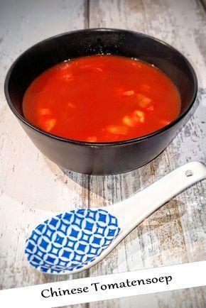 Heerlijke Chinese tomatensoep