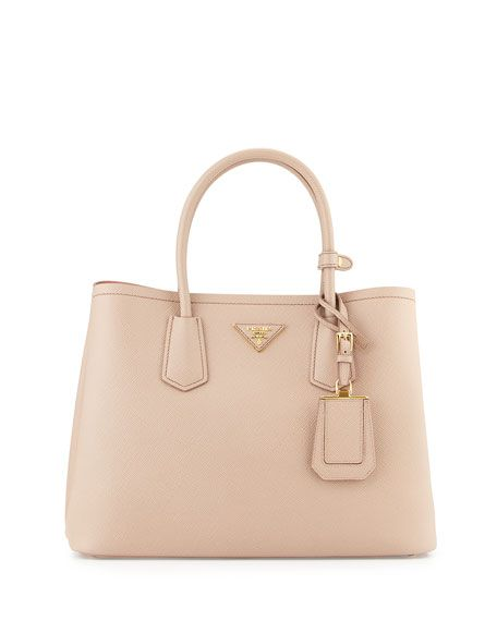 29b104ee915b Saffiano Cuir Small Double Bag Blush/Rose (Cammeo+Rosa) | Bags ...