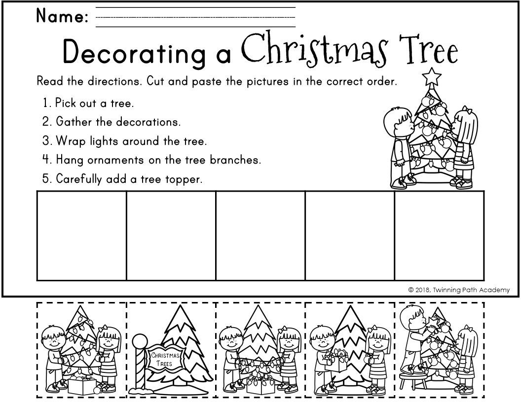 Christmas Sequencing Activity Pages Decorating A Christmas