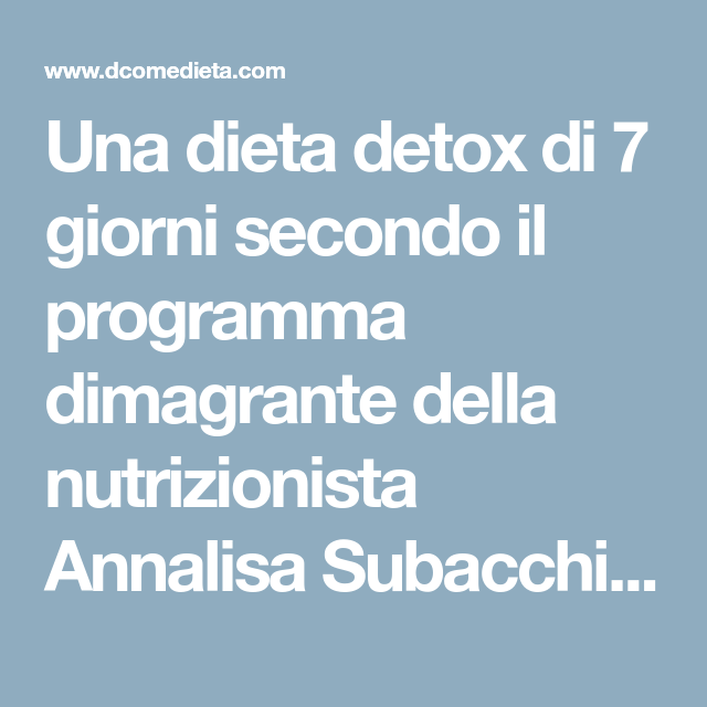 dieta alcalina di 7 giorni