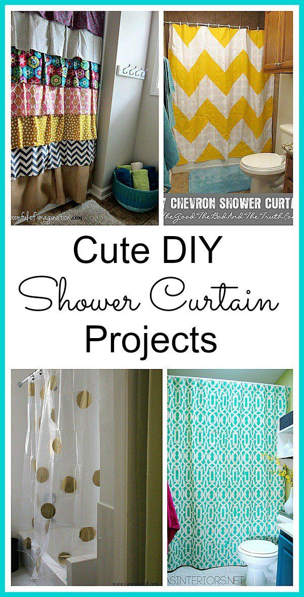Diy Shower Curtain Projects Diy Shower Curtain