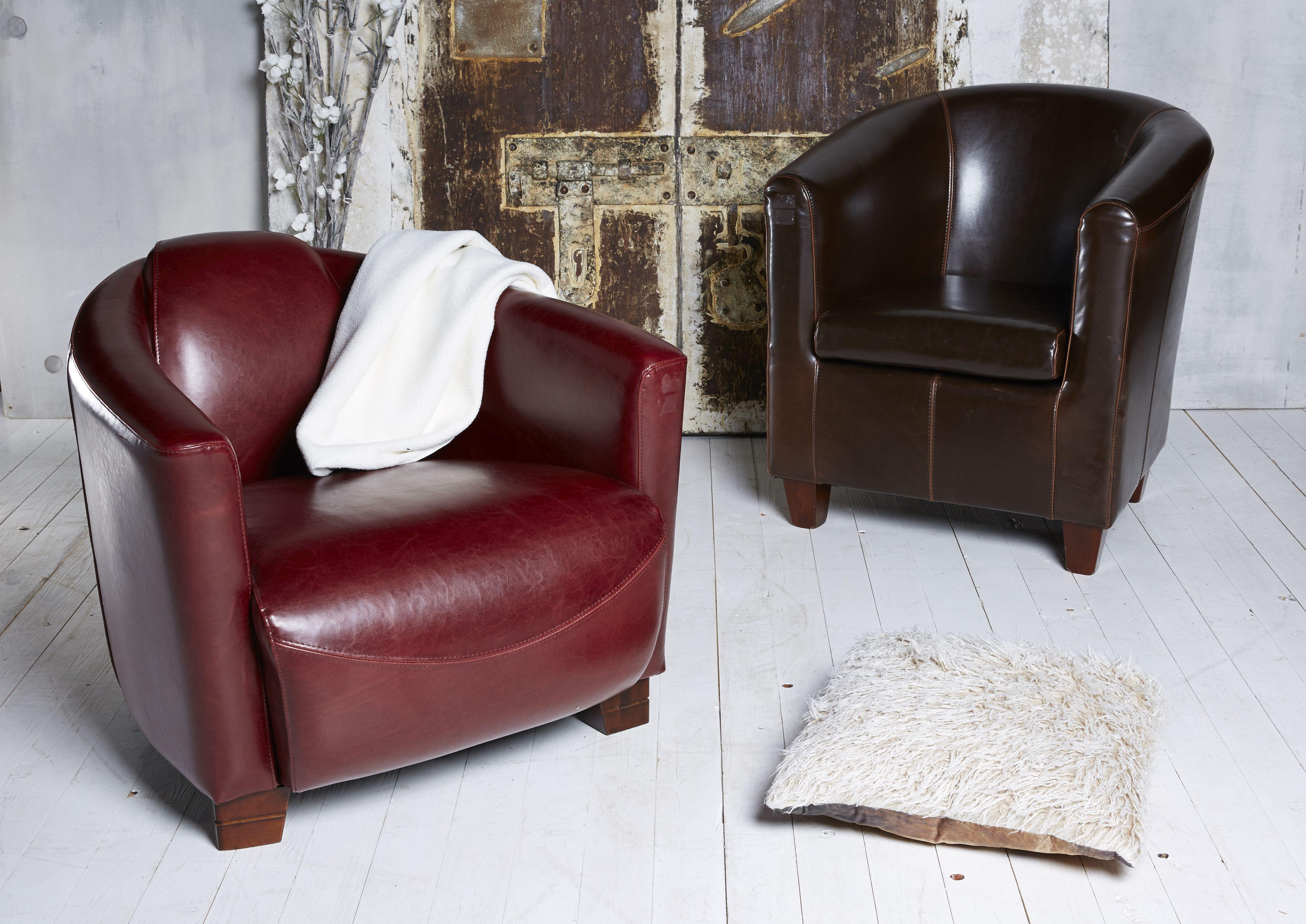 Club Feeling Im Wohnzimmer Lounge Sessel Aus Echtleder Im Antik Look Lounge Sessel Sessel Burosessel