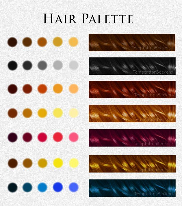 Hair Palette Skin Color Palette Hair Color Swatches Skin Palette