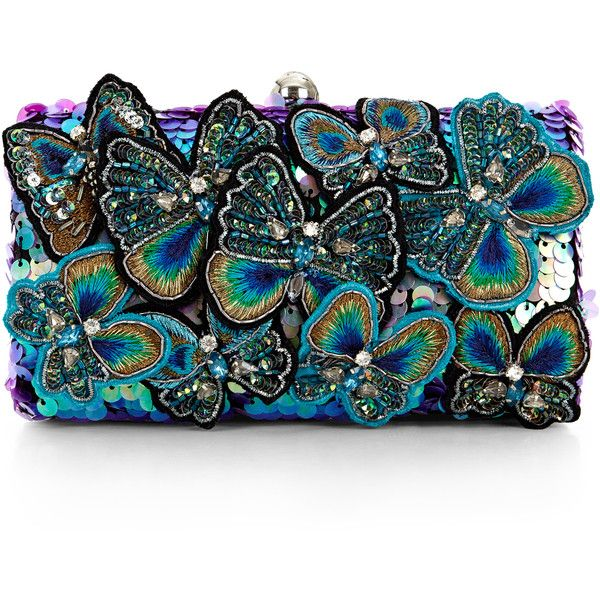 Accessorize Belle Erfly Hardcase Clutch Bag 89 Liked On Polyvore Featuring Bags Handbags Clutches Multi Colored Black Purse