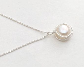 Pearl necklace sterling silver pearl necklace silver pearl pendant pearl necklace sterling silver pearl necklace silver pearl pendant natural pearl necklace mozeypictures Choice Image