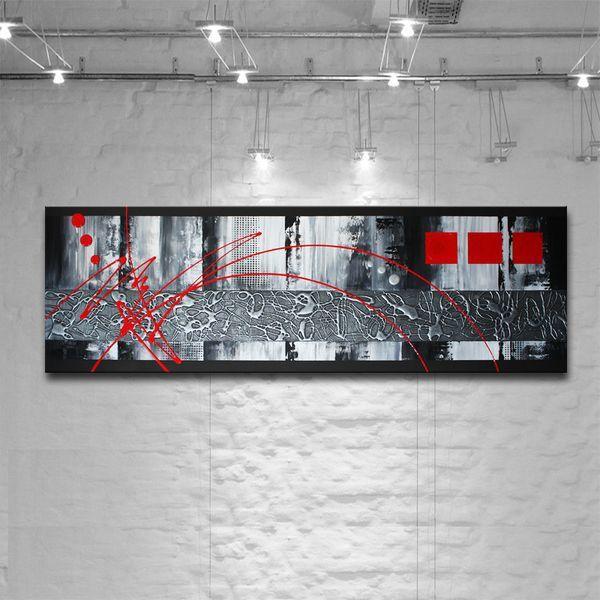 Très Tableau de peinture abstrait rouge et gris | tableaux | Pinterest  PY22