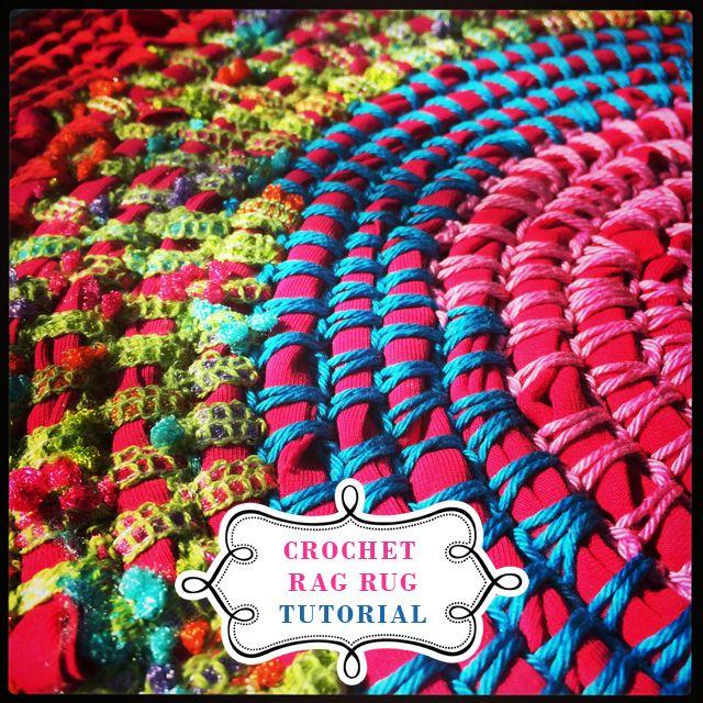 Rag rug crochet Tutorial | Rag rug tutorial, Tutorials and Crochet