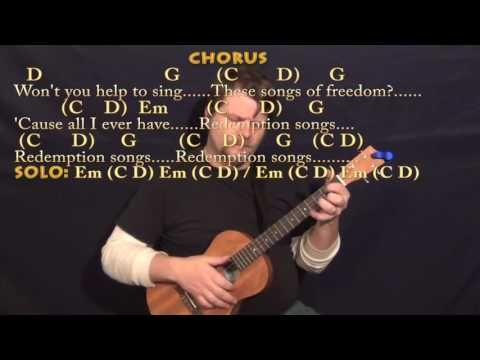 20 Redemption Song Bob Marley Bariuke Cover Lesson With Chords