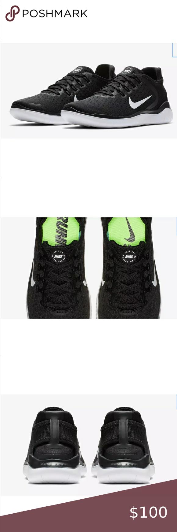 Nike Women's Free RN 2018 Running Shoe Black/White NWT in ...