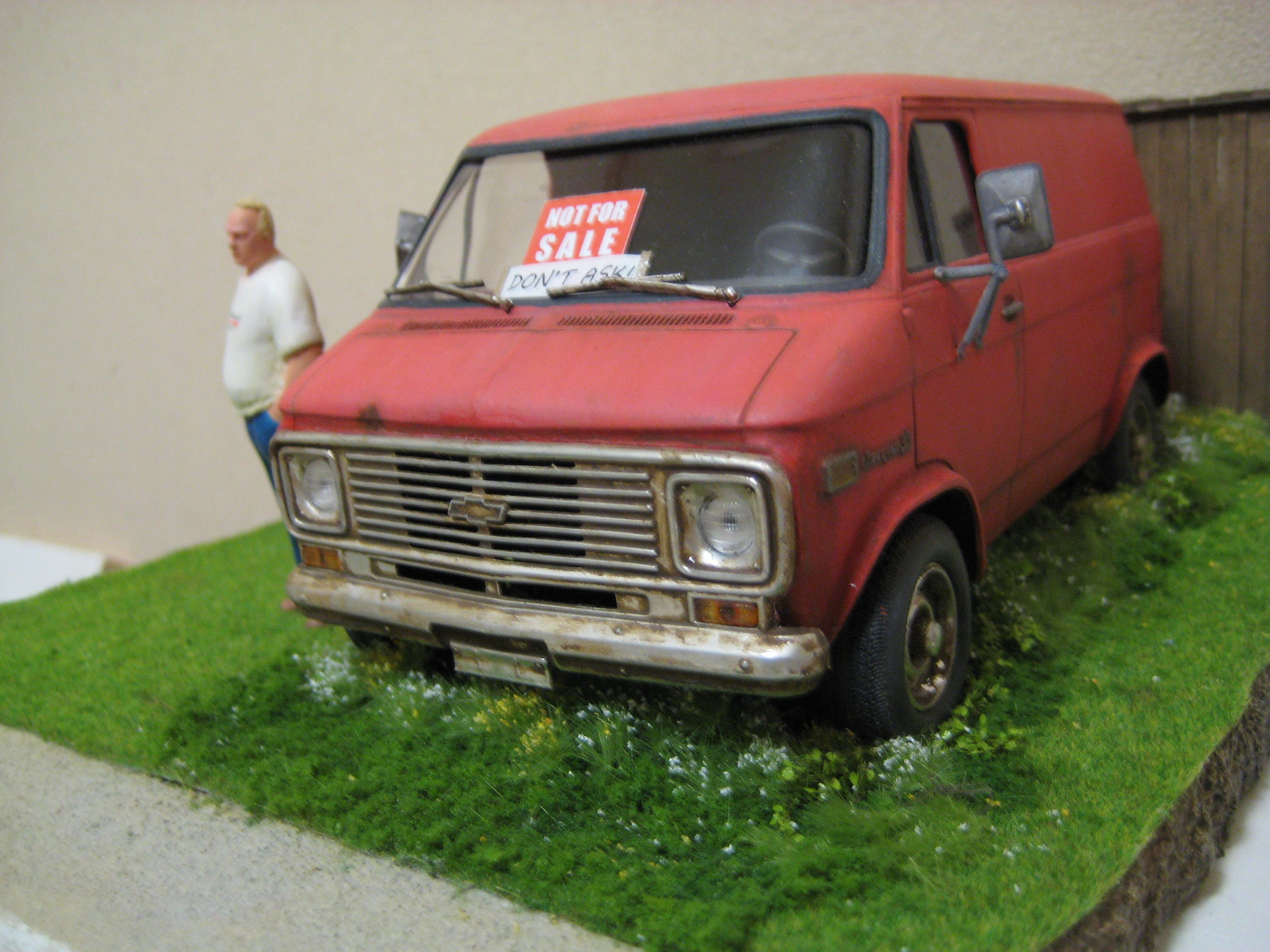 Chevy - not for sale 1/25 Scale Model Diorama | Dioramas Civilian