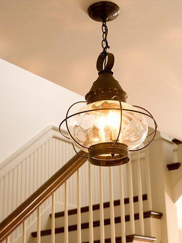 Boat lantern in foyer