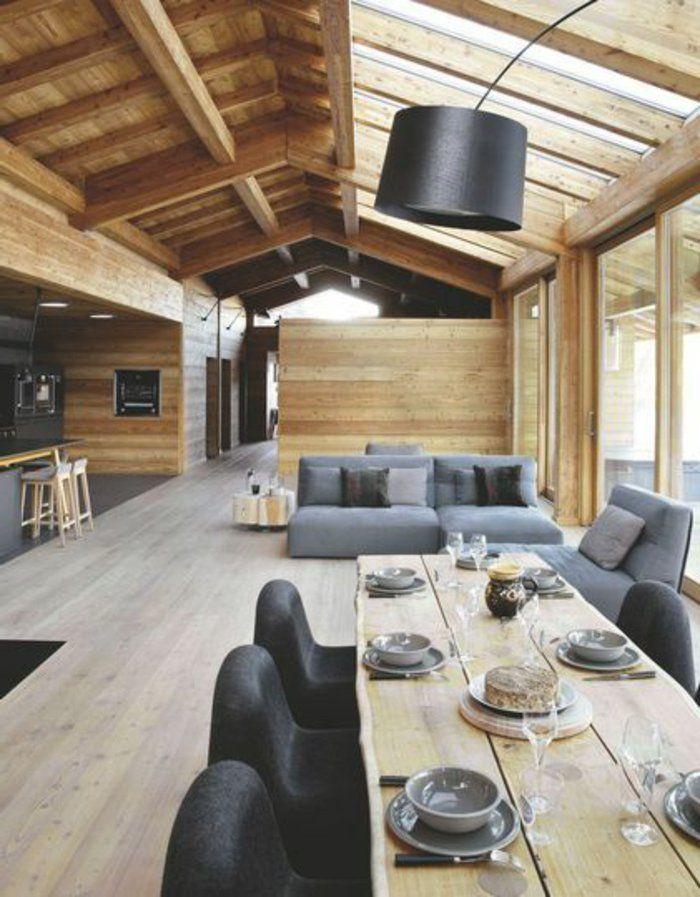 La Poutre En Bois Dans 50 Photos Magnifiques Deco Chambre Chalet Amenagement Maison Deco Maison