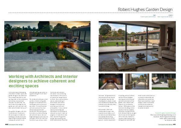 Landscape and Urban Design Magazine article by Robert Hughes Garden Design