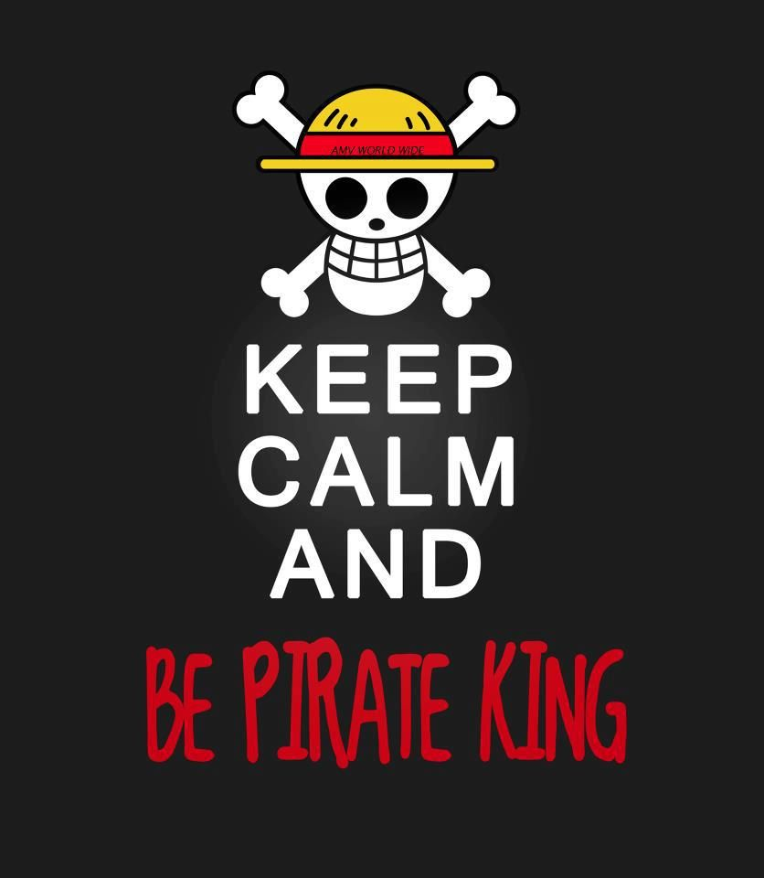 Yes!  He's gonna be king of the pirates!