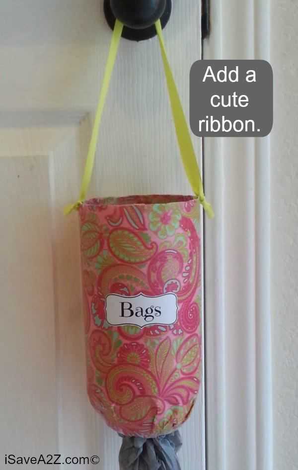 Diy Grocery Bag Holder Easy And To Make Plastic