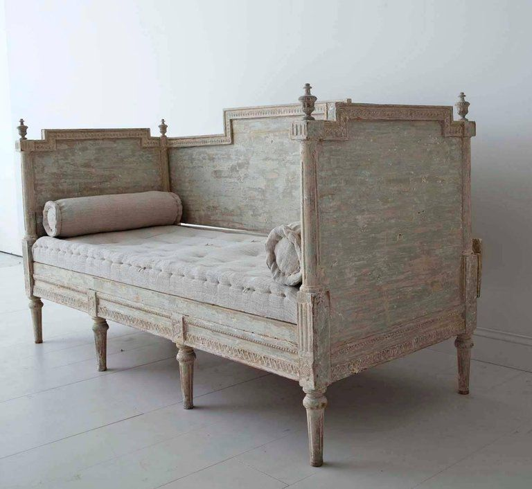 Astonishing 19Th Century Swedish Gustavian Period Sofa Bench In Original Squirreltailoven Fun Painted Chair Ideas Images Squirreltailovenorg
