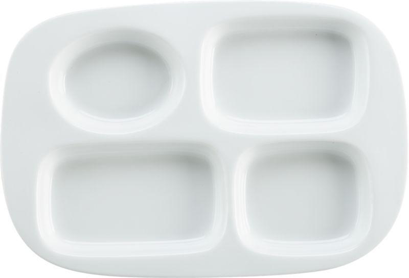 Tv Dinner Plate In Dinnerware Cb2 Portion Control