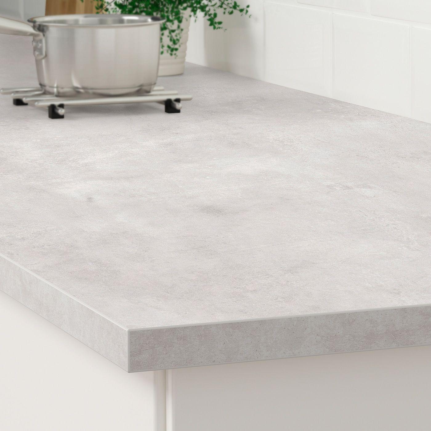 Ekbacken Arbeitsplatte Hellgrau Betonmuster Laminat Ikea Osterreich In 2020 Laminate Countertops Replacing Kitchen Countertops Countertop Materials