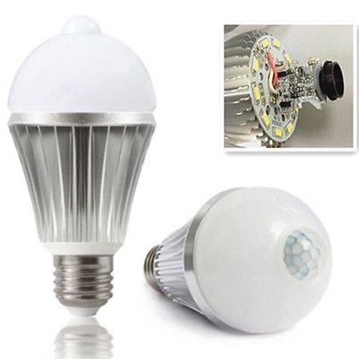 7w Cool White Motion Sensor Induction Detection Led Lamp Light