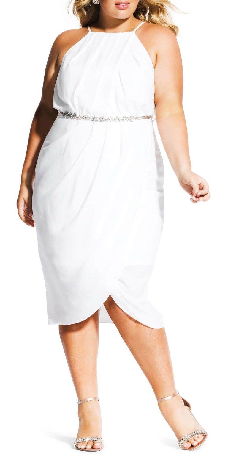 20 Plus Size Rehearsal Dinner Dresses Plus Size White Dress For Bachelorette Party Alexa Webb Flattering Plus Size Dresses White Dress Party Plus Dresses [ 1536 x 768 Pixel ]