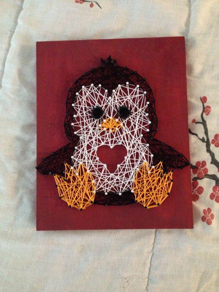 Diy String Art Penguin String Art Made This For A Friend String Art