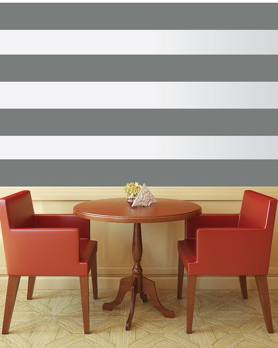 Create your own patterned wall. Each stripe is a separate piece so you can create one long stripe for a room, a multi-striped wall, ceiling, or floor!
