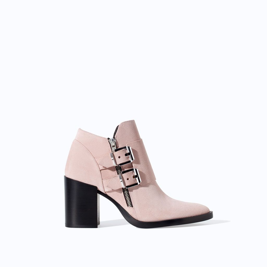 Boot Shoes Leather Week Heel Suede This Ankle New Wide Zara xw7aAPfpnq