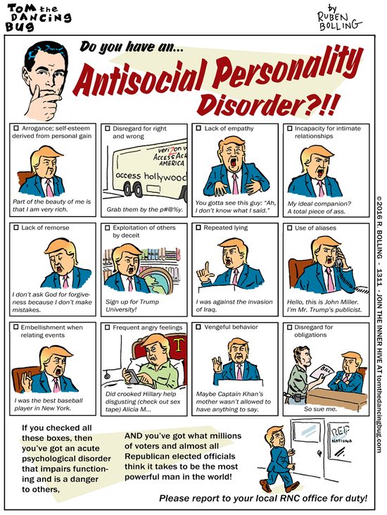 Cartoon Do you have an Antisocial Personality Disorder