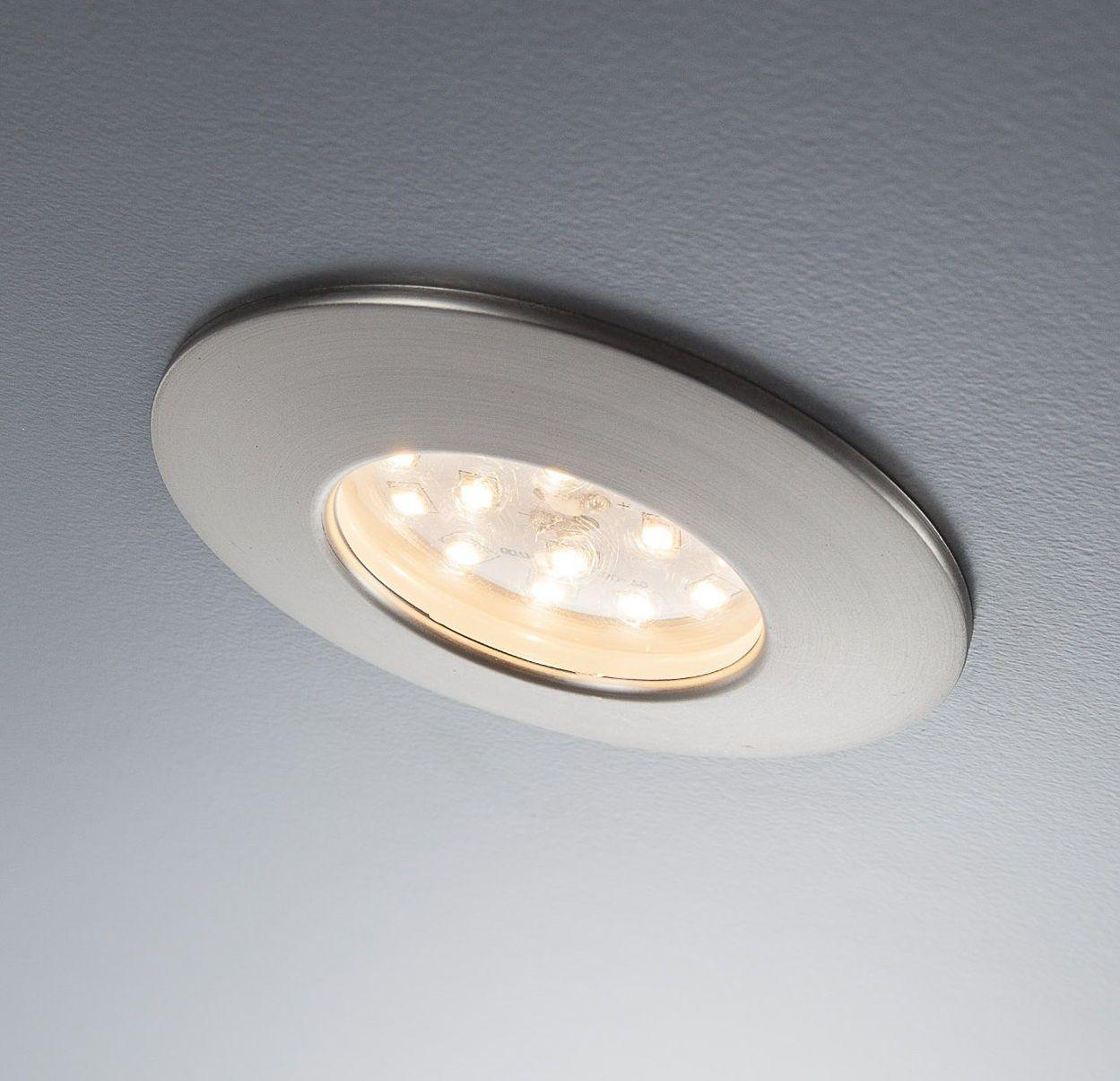 Ultraflacher LED Einbaustrahler für das Bad im praktischen 6-er Set ...