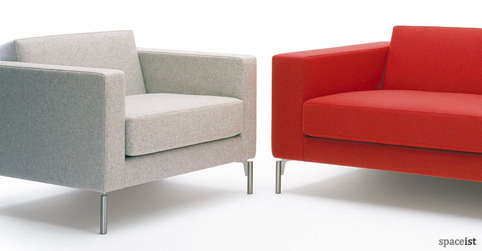 Office Couch And Chairs. Collection Of Modern Office Reception Furniture  For Agencies, Marketing And