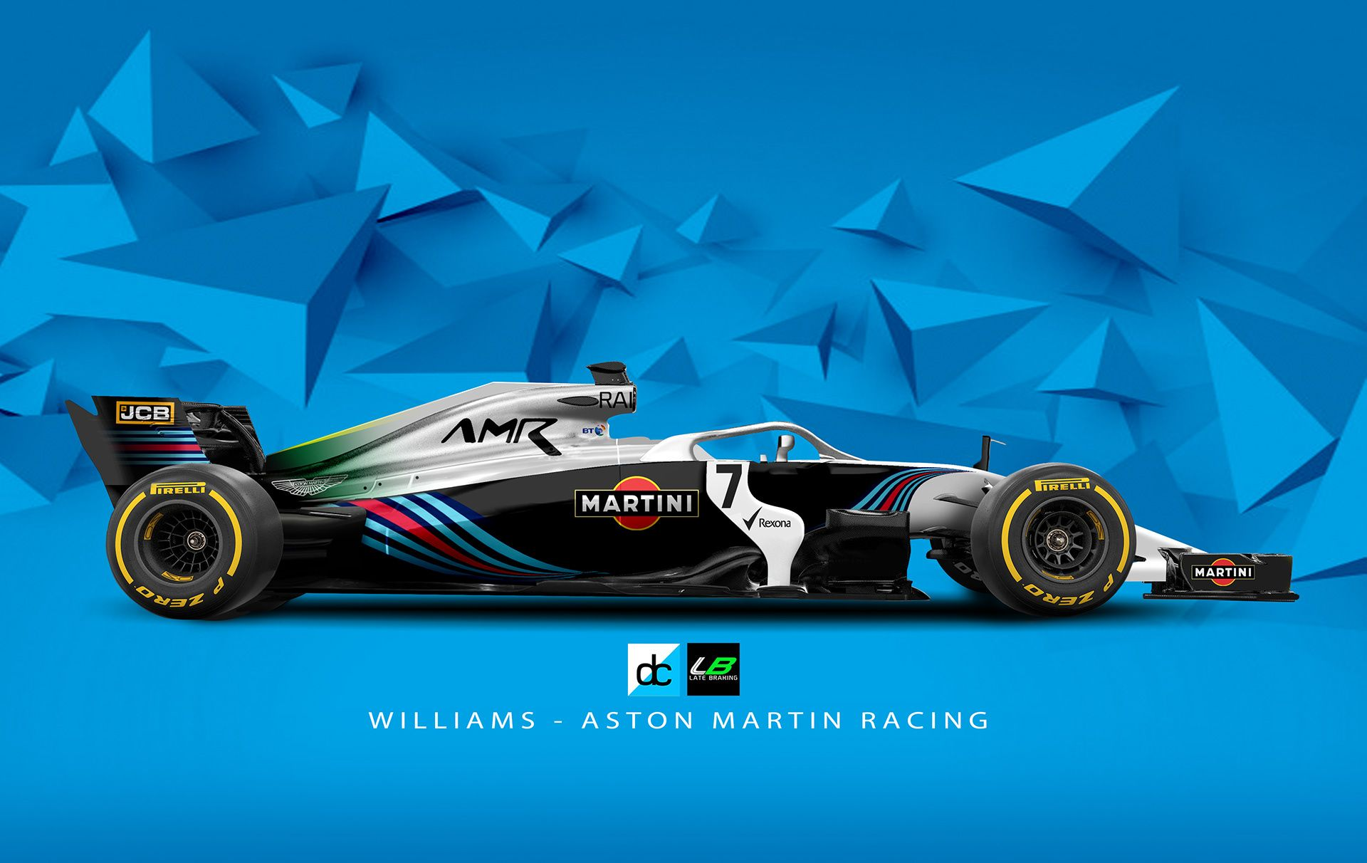 Williams Aston Martin Racing Concept Latebraking On Behance Racing Aston Martin Aston