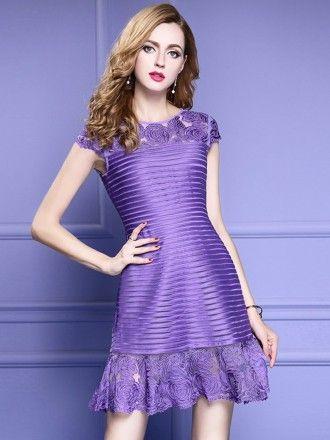 2431870fd6 Burgundy Formal Embroidered Short Dress For Wedding Guest Over 40 ...