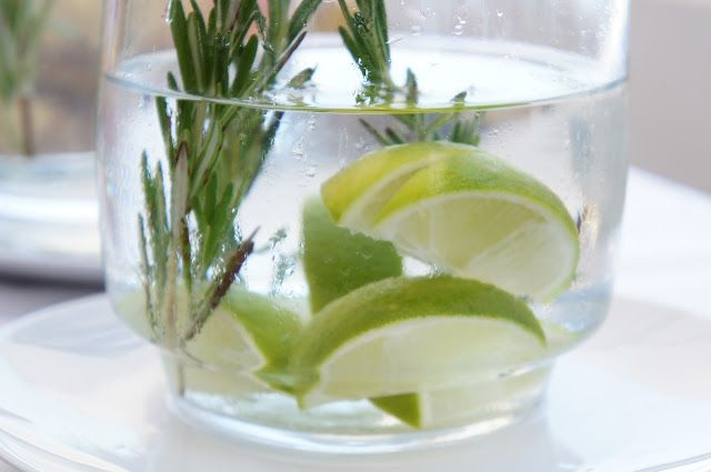 Lime rosemary water
