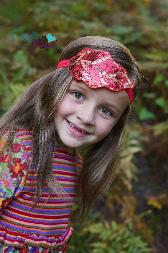 Fall Headband  Leaf Headband  Sequin by PACraftsfromtheHeart