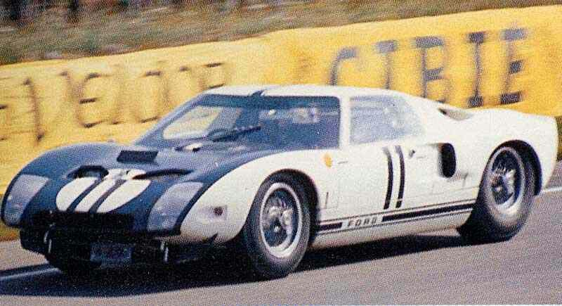 1964 Lemans Ford Gt 40 11 Richie Ginther Masten Gregory Ret 63 Laps Ford Gt40 Ford Gt Sports Car Racing