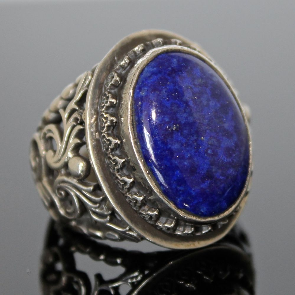 925 Sterling Silver Mens Ring Lapis Lazuli Unique Handmade Jewelry Size 10 Handmade Solitaire Gold Chains For Men Mens Jewelry Beautiful Jewelry