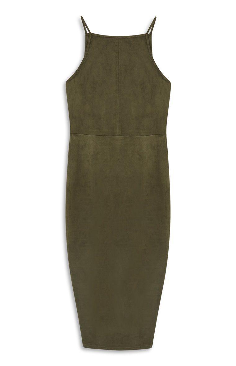 43f46d85a82 Primark - Khaki Suede Apron Dress | Women's Clothing | Apron dress ...