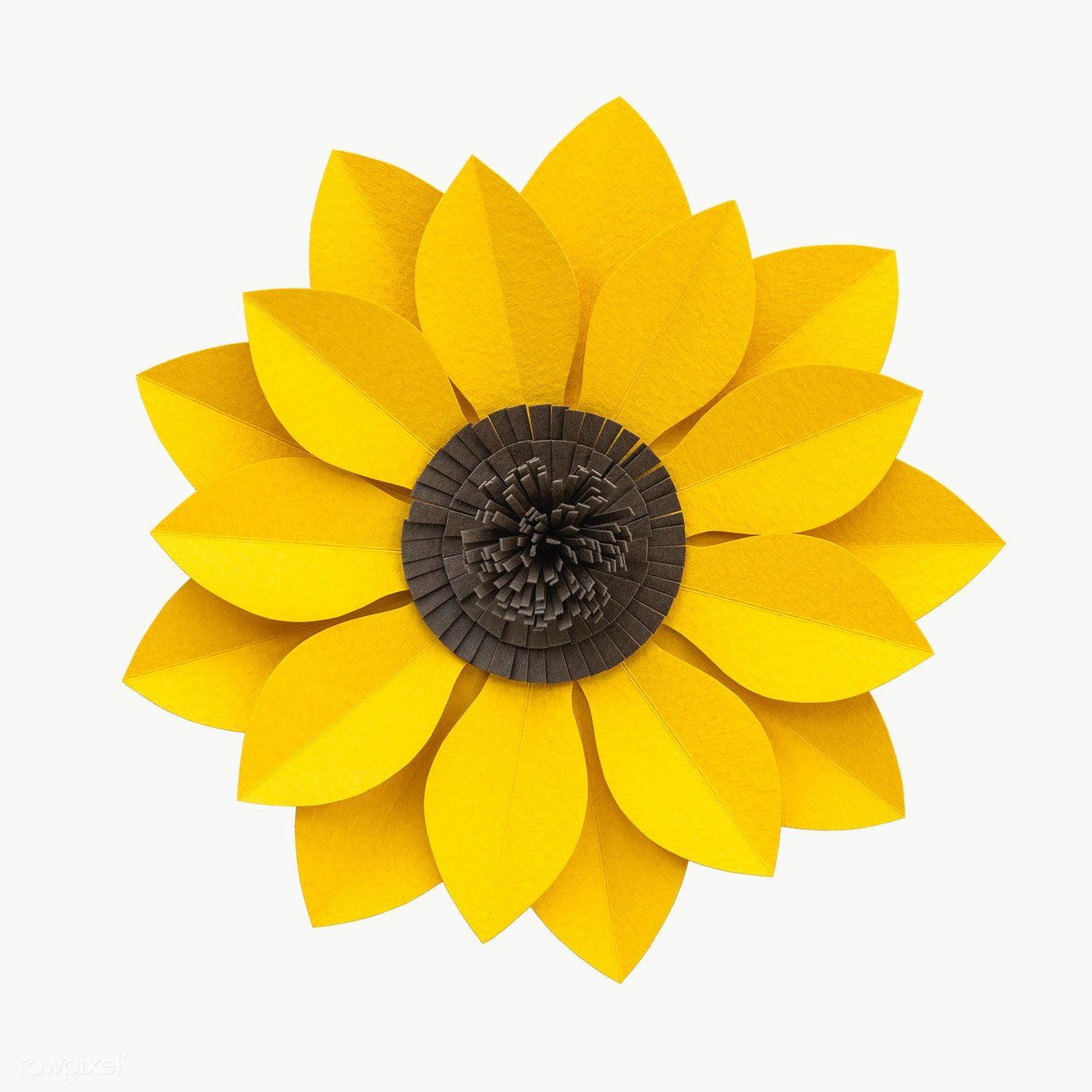 Download Premium Png Of Sunflower Paper Craft Transparent Png 2025450 In 2020 Sunflower Paper Craft Sunflower Crafts Paper Crafts