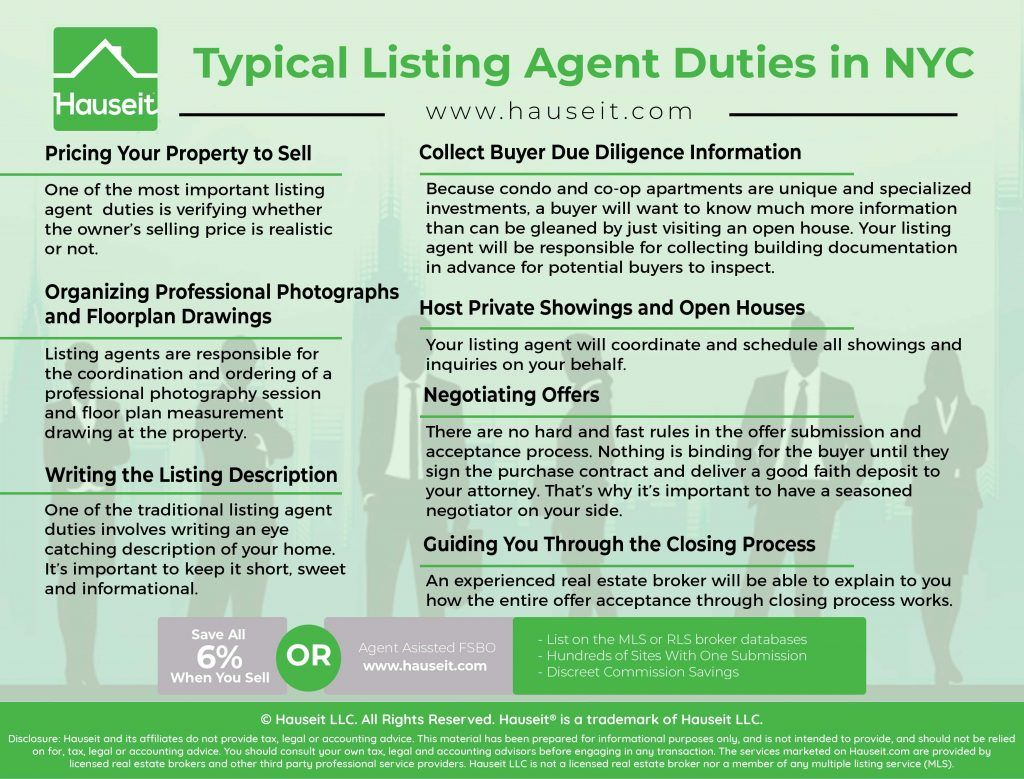 Typical Listing Agent Duties In Nyc Hauseit Listing Agent Nyc List