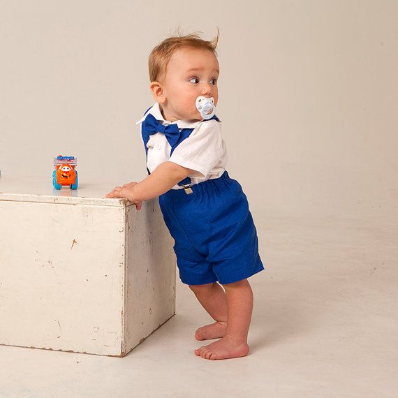 Ring bearer outfits Boy royal blue outfits Boy shorts with ...