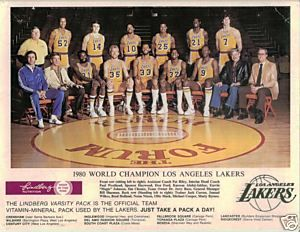 Los Angeles Lakers 1980 Championship Team Signed Photo Los Angeles Lakers Lakers Nba Champions