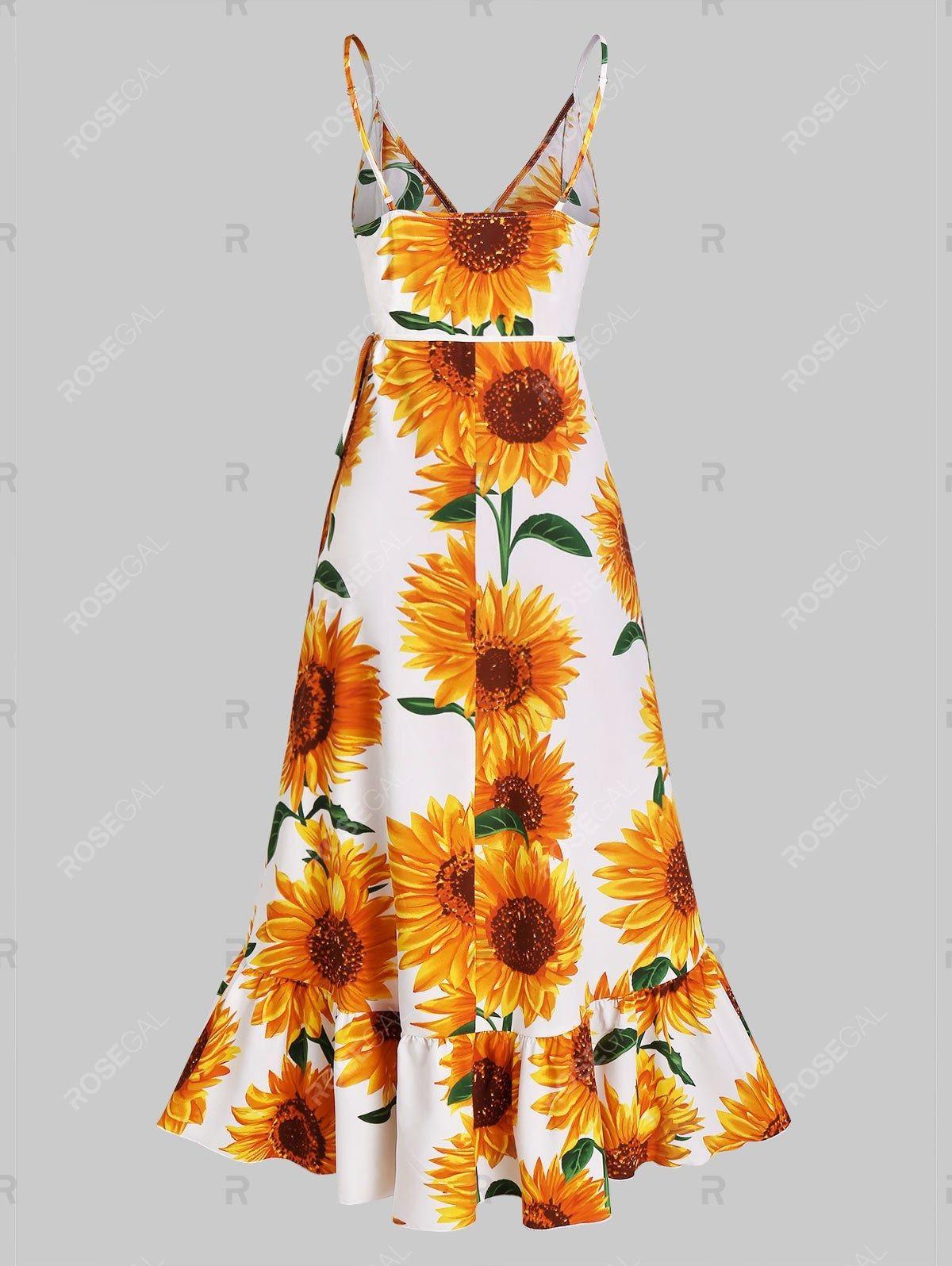 Sunflower Print Flounce Wrap Maxi Dress Ad Affiliate Flounce Print Sunflower Dress Maxi Maxi Wrap Dress Maxi Dress Dresses [ 1596 x 1200 Pixel ]