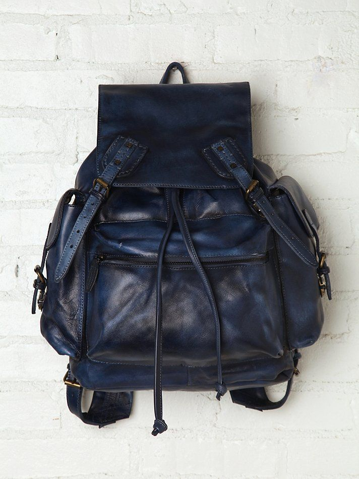 Free People Old Trend Moto Distressed Backpack