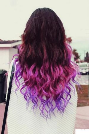 It S Everything It S Chalked Up To Be Hair Styles Purple Ombre Hair Dip Dye Hair