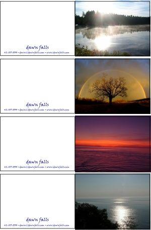 Note cards - Dawn Falls